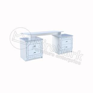 Туалетный столик Луиза Белый глянец ТМ МироМарк