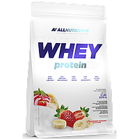 Сывороточный протеин концентрат AllNutrition Whey Protein (2,2 кг) алл нутришн Strawberry-Banana