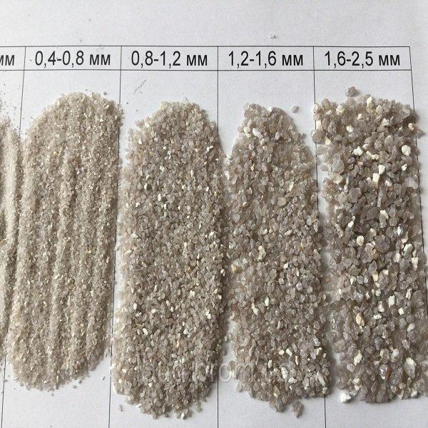 Кварцевый песок для фильтра фракция 0.8-1.2 мм Украина 25кг (ps0209002)