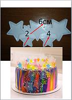 2D Форма силиконовая звезды звездочки молд для изомальта леденцов шоколада