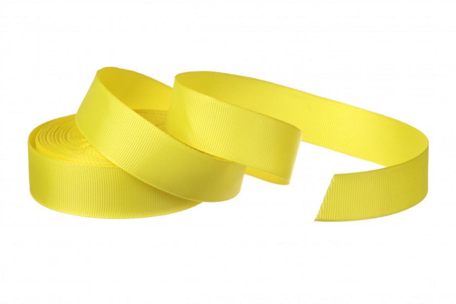 Репс однотонный бобина. Цвет ярко желтый.  Ширина 2.5 см