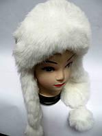 Модная шапка ушанка женская