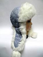 Зимняя женская шапка ушанка
