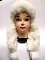 Модная теплая женская шапка ушанка