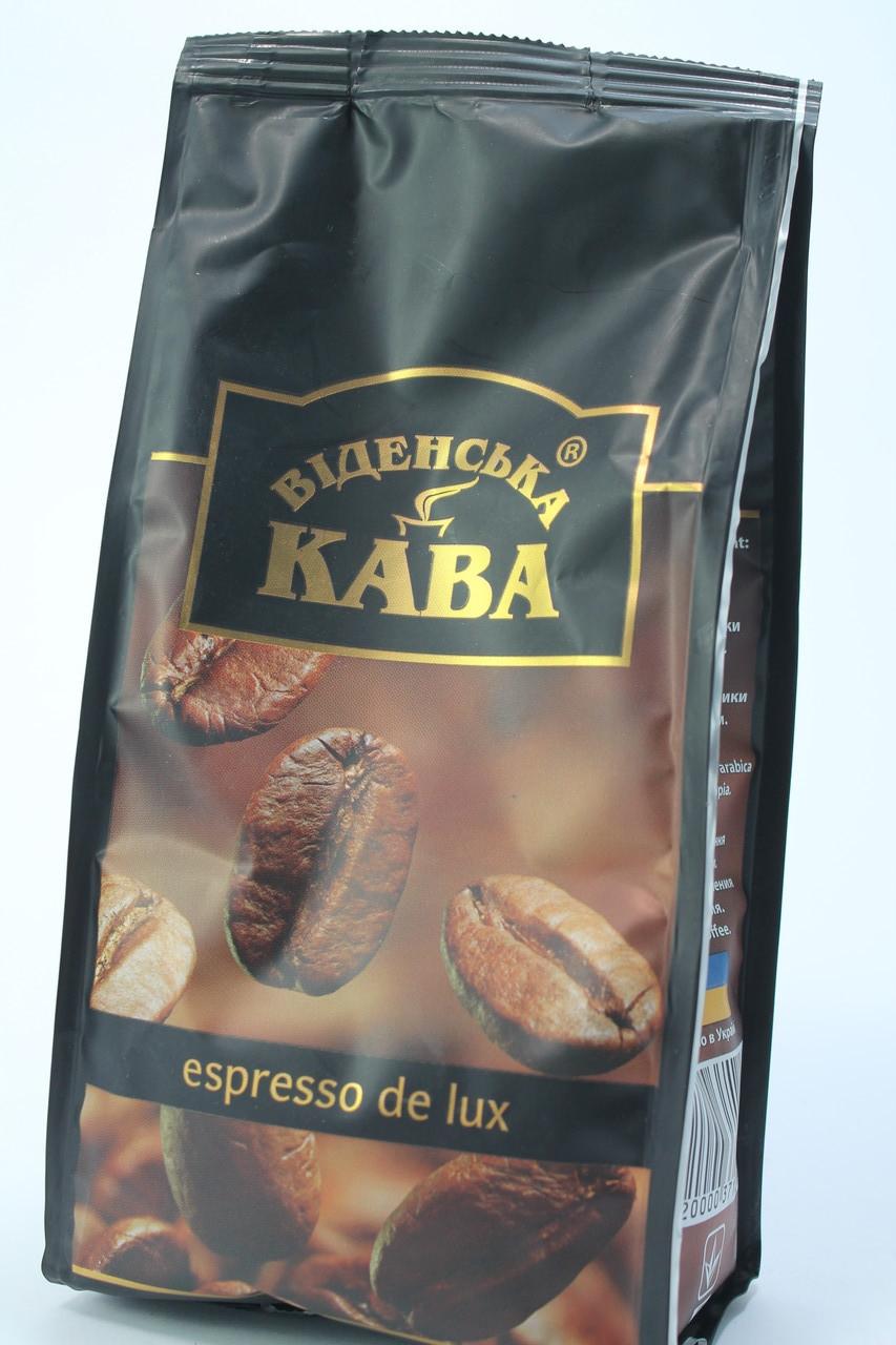 Молотый кофе Віденська Кава Espresso Delux 250 грам Украина
