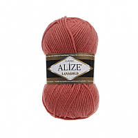 Пряжа Alize LanaGold Classic 100гр - 240м (154 Коралловый), 51% акрил, 49% шерсть, Турция