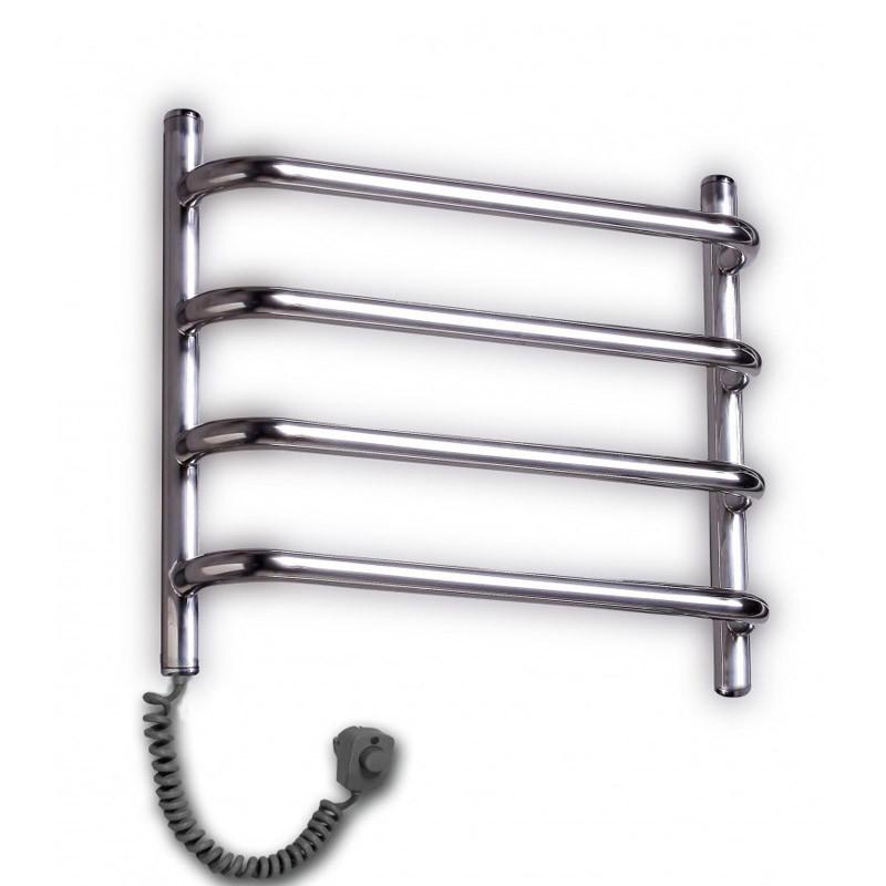 Полотенцесушитель Элна Стандарт 4 нержавеющая сталь с выключателем