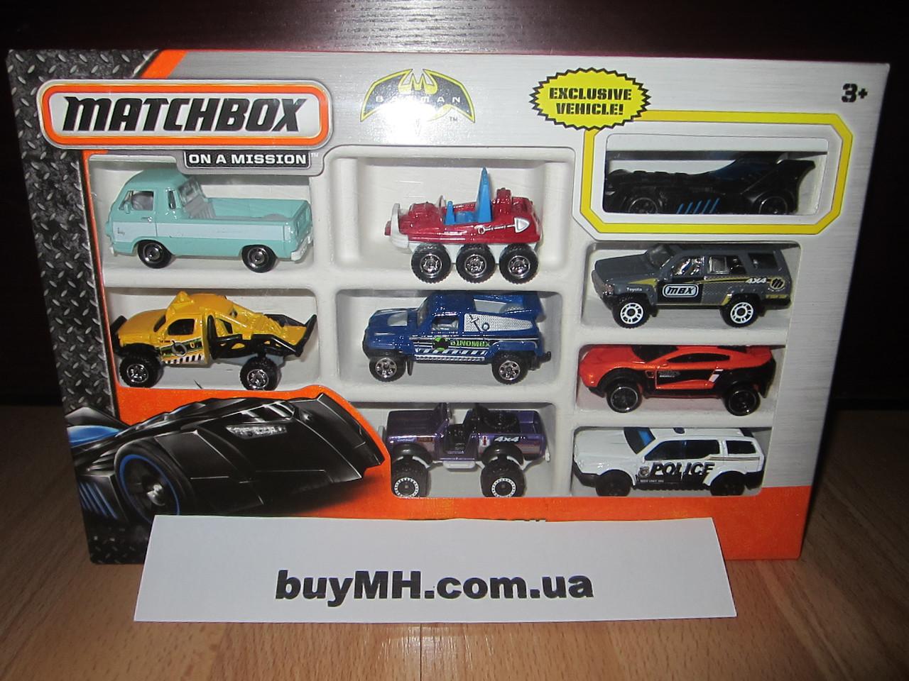 Подарочный набор из 9 машинок Матчбокс Matchbox 9 Car Gift Pack в ассортименте, фото 1