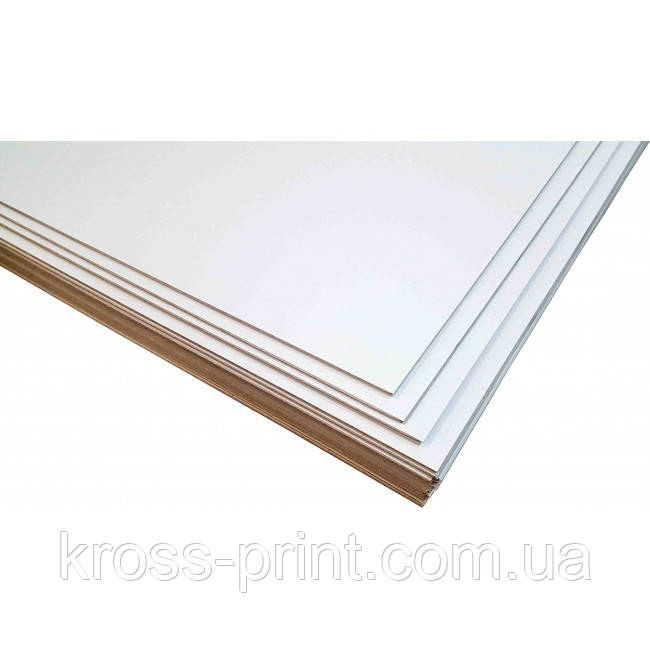 Картон переплетный белый 3,00 мм, А3+, односторонний, 4шт