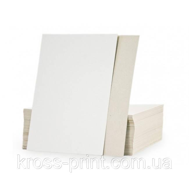 Картон макулатурный (хром-эрзац) мелованный 400 г/м2 70*100, 50 листов