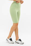 Женские шорты-велосипедки Хизер салатового цвета, фото 1