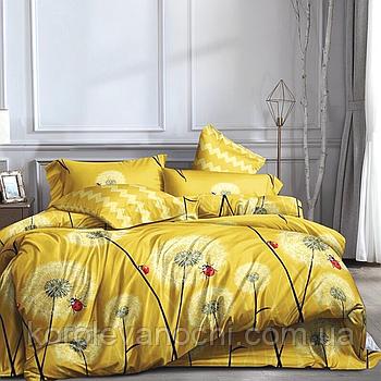 """Полуторний комплект (Ранфорс)   Постільна білизна від виробника """"Королева Ночі""""   Кульбабки на жовтому"""