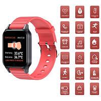 Фитнес-браслет, смарт-браслет T96, температура тела, red, фото 1