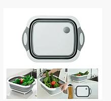 Органайзер корзина-доска для фруктов и овощей складной 4в1