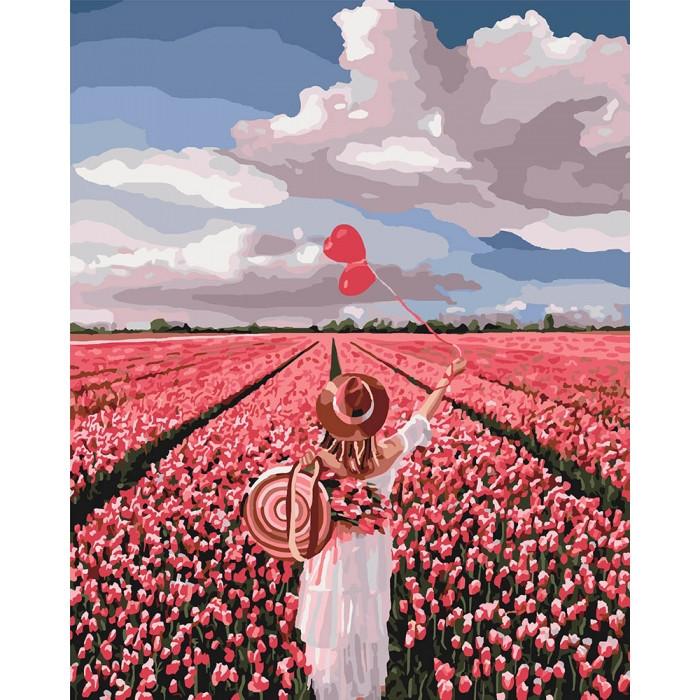 "Картина по номерам.""Розовая мечта"" 40*50см KHO4603"