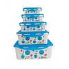 Судки Пищевые Набор 5 Шт Пластиковые Ланч Боксы Для Хранения Еды UNIQUE UN-1514-5 цвета в Ассортименте, фото 2