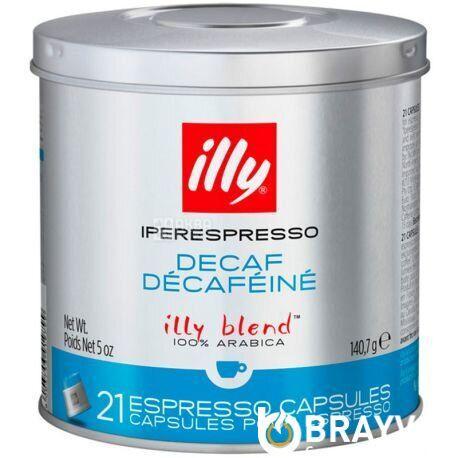 Кофе в капсулах ILLY iperEspresso DECAFF ж/б 21 шт