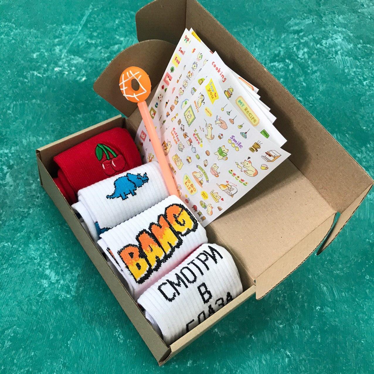 Подарочный Набор City-A Box Бокс с Носками для Мужчины и Женщины из 6 ед №2368