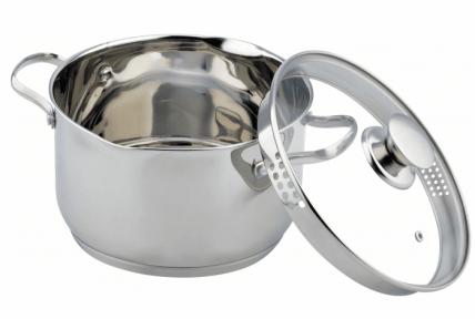 Каструля зі скляною кришкою Con Brio Розмір 20х12 см, 3,6 л