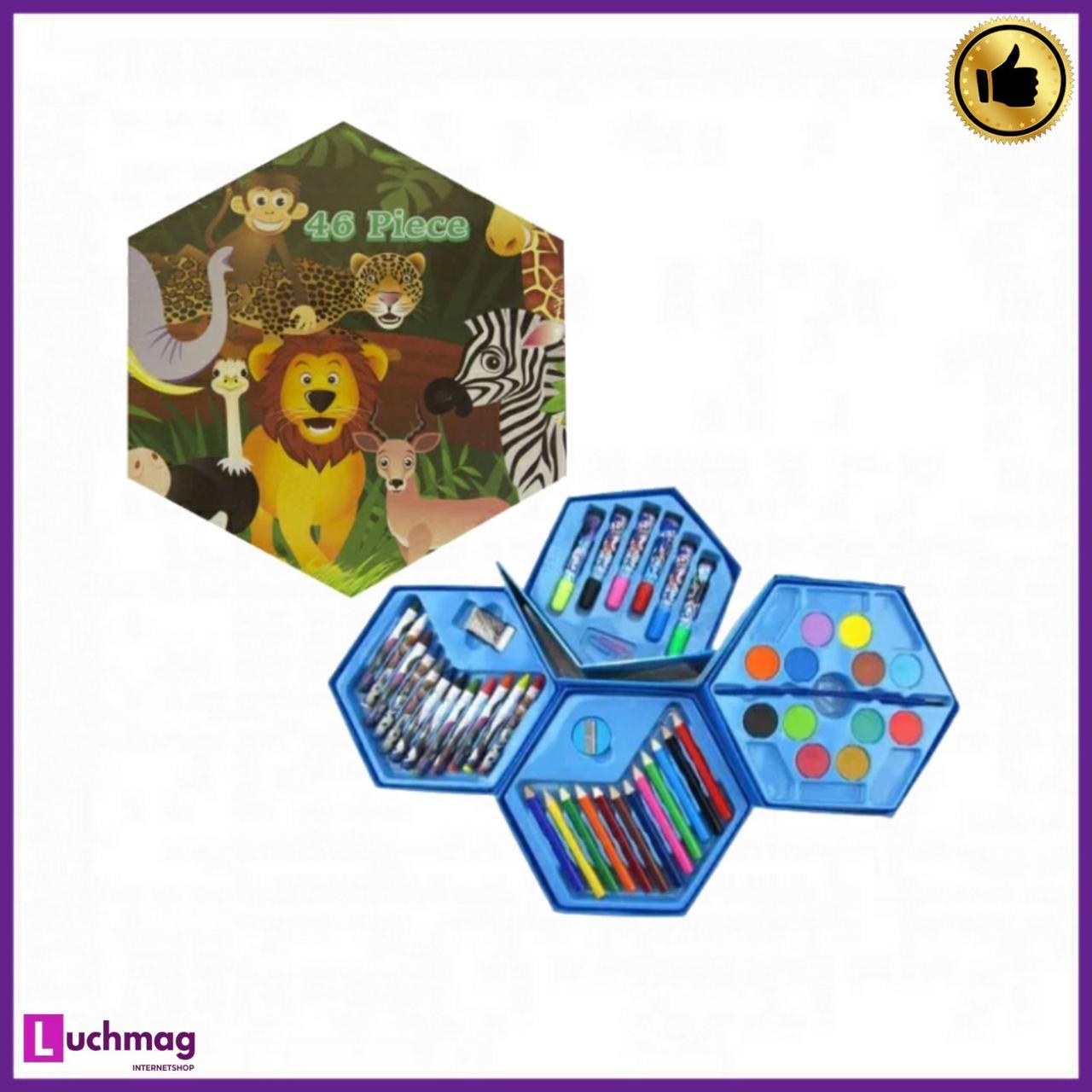 """Набор для творчества и рисования """"Саванна"""" 46 предметов для детей от 3 лет"""