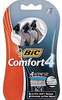 Станок для бритья BIC Одноразовый мужской станок для бритья Flex 4 Comfort 3 шт