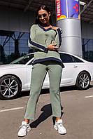 Женский спортивный костюм 1138 (44 46 48 50) (цвета: оливка, красный, хаки, пудра) СП, фото 1