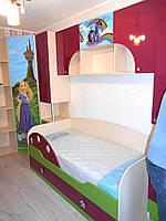Изготовление дизайнерской детской мебели на заказ - детская кровать шкаф полки стол с тумбой для девочки