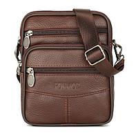 Небольшая мужская кожаная сумка через плечо или на пояс Fonmor 081
