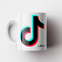 Чашка TikTok. Кружка с принтом ТикТок №9. Чашка с фото, фото 1