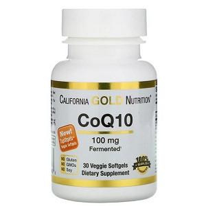 Витамины коэнзим Q10 California Gold Nutrition CoQ10 100 mg (30 капсул.)