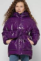 Зимова куртка на пуху для дівчаток, на ріст від 110 до 158 см