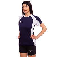 Форма волейбольная женская Футболка и шорты Mizuno Success Replica Тёмно-синий-черный (CO-6481-BL) S-M (42-44)
