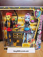 Куклы Monster High Home Ick Abbey Bominable & Heath Burns 2-Pack Эбби Боминейбл и Хит Бернс Классная комната