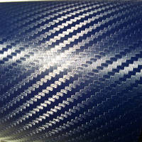 Синяя пленка карбон 3d (темная текстура)