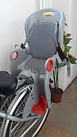 Детское Велокресло TILLY Maxi от 1 до 7 лет (до 22 кг) Крепление на раму или багажник Серый