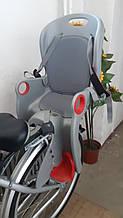 Дитяче Велокрісло TILLY Maxi від 1 до 7 років (до 22 кг) Кріплення на раму або багажник Сіро-червоне