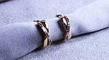 Сережки-бантики фірми Xuping з різнокольоровими каменями( color 68 ), фото 2