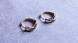 Сережки-бантики фірми Xuping з різнокольоровими каменями( color 68 ), фото 5