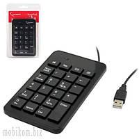 Клавиатура для пк Gembird KPD-01, USB, цифровая, 23 клавиши, черный