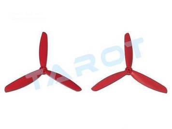 Пропеллеры Tarot 6045-3 3-лопастные 2шт CW+CCW красные (TL400E2)
