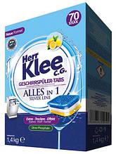 Таблетки для посудомоечных машин Herr Klee 70 шт