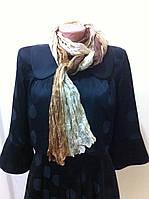 жатый натуральный шёлк шарф в оттенках бежевого