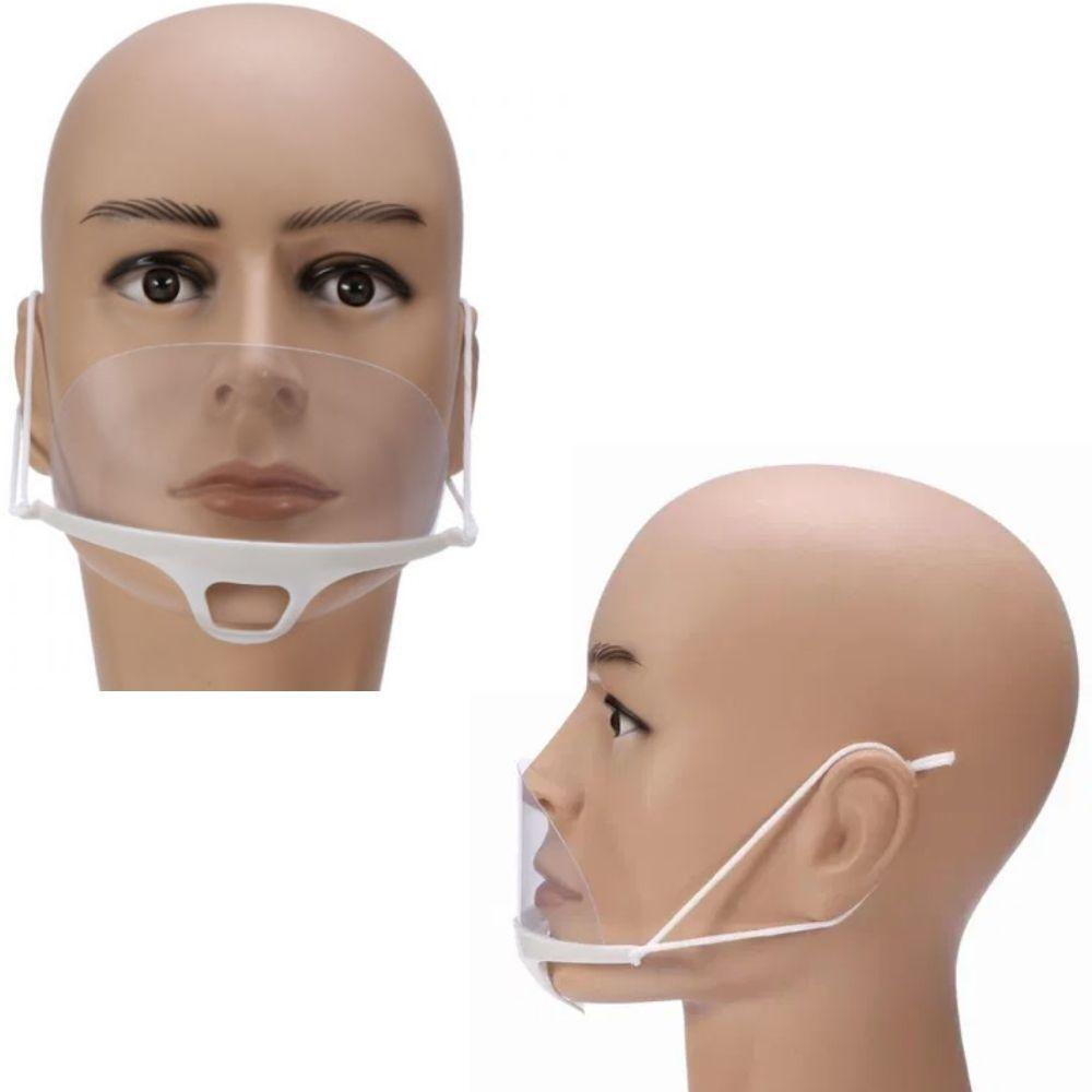 Защитная маска прозрачная косметологическая пластиковая маска для лица, 1 шт.
