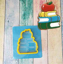 Трафарет + формочка-вырубка для пряника книги с яблоком #2