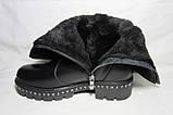 Женские зимние кожаные сапоги оптом, фото 7