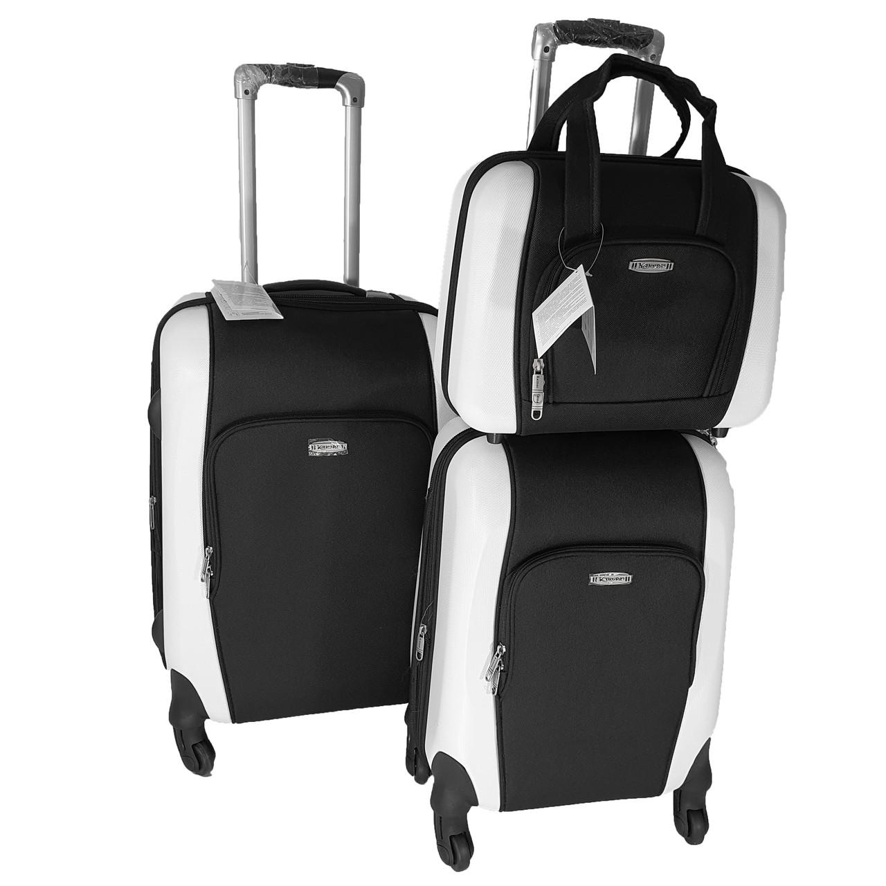 Комплект из двух чемоданов, ABS+PC+ткань Kaiman