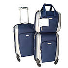 Комплект из двух чемоданов, ABS+PC+ткань Kaiman, фото 3
