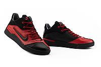 Мужские кроссовки кожаные весна/осень красные-черные CrosSav 310, фото 1