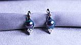 Стильні сережки Xuping (Rhodium color 3), фото 2