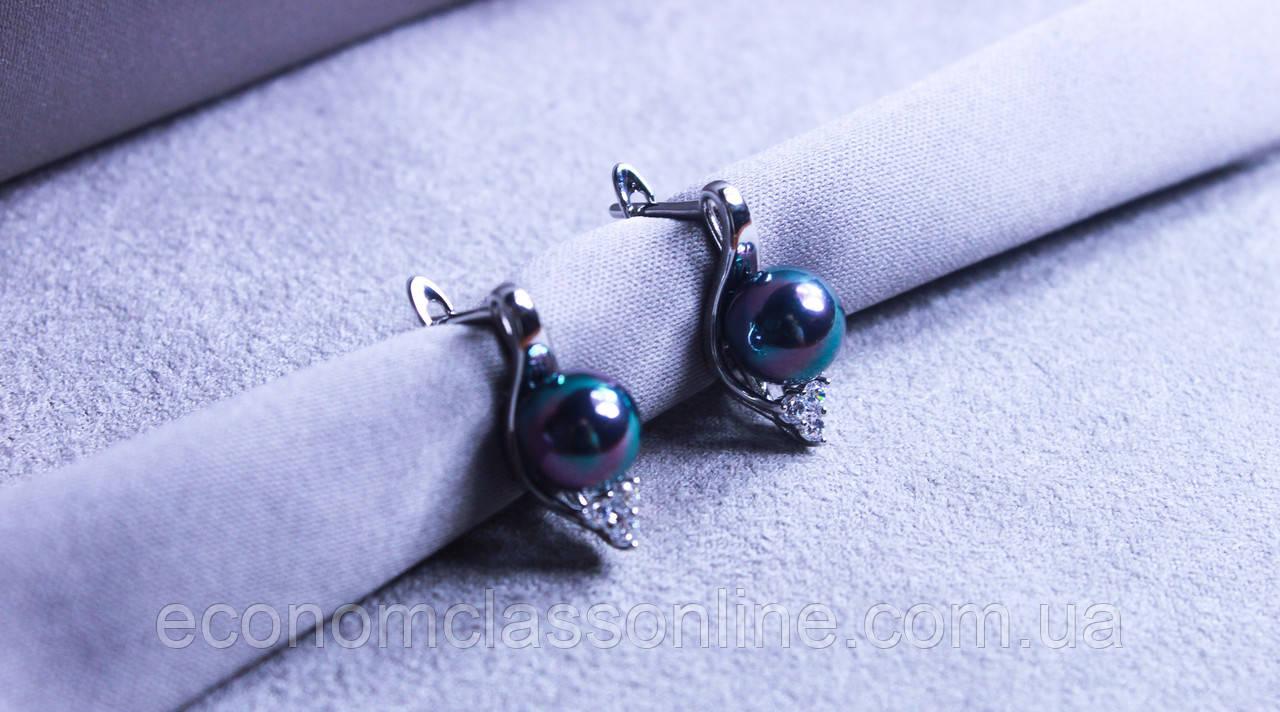 Стильні сережки Xuping (Rhodium color 3)